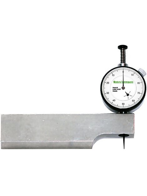 Western Instruments N88-5-M Reaching Pit Gauge with Metric Dial Indicator, 4.75